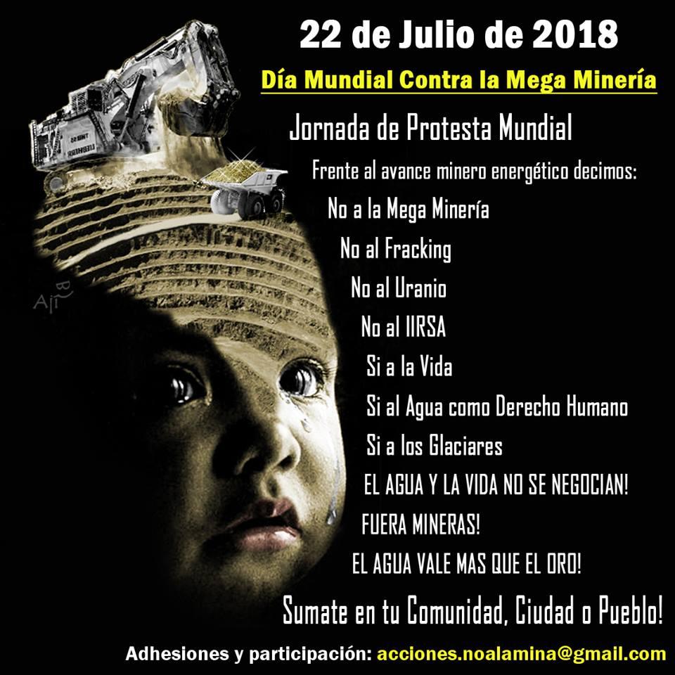 22 Julio Dia Mundial Contra La Megamineria 2018 Manu